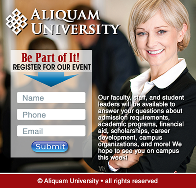 Educational and Institutional Landing Pages